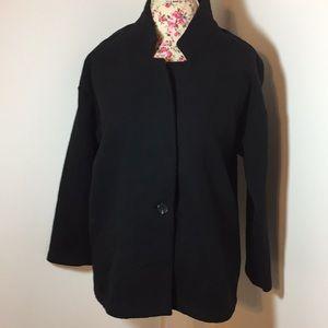 Old navy small petite black jacket wool blend